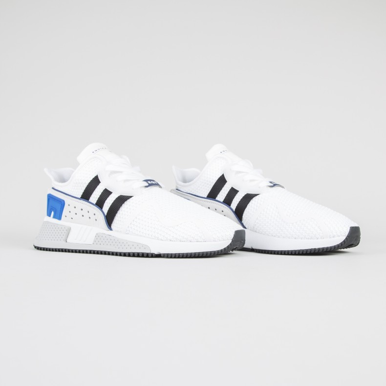Adidas originali eqt cuscino bianco / nero centrale avanzata (calzature