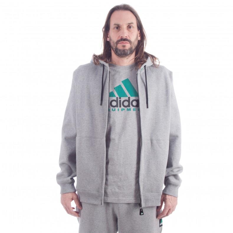detailed look 8b855 2bbaf adidas Originals EQT Full Zip Hooded Sweatshirt (Core Heather)