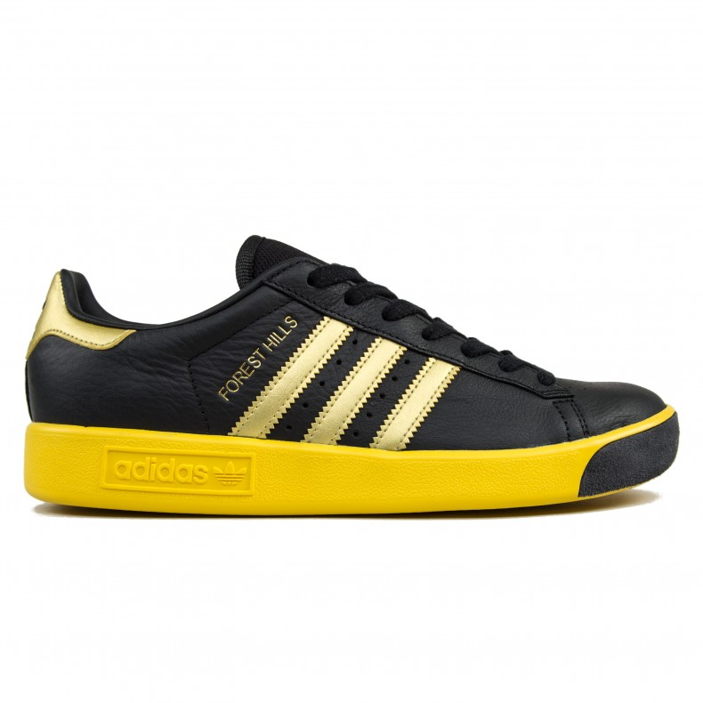 Adidas Originals Forest Hills Og Core Black Gold Metallic Eqt