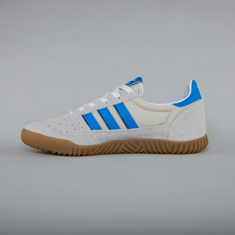 newest b2124 fb77e adidas Originals Indoor Super. (Vintage White Bright Blue Collegiate Navy)