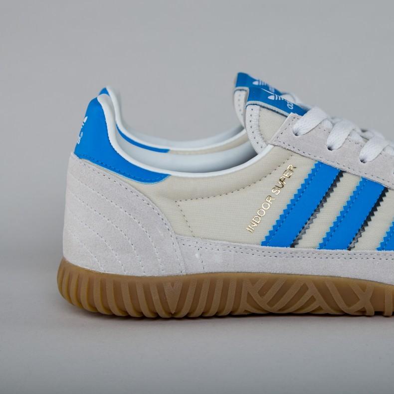 finest selection a0ae0 68dd5 adidas Originals Indoor Super. (Vintage White Bright Blue Collegiate ...