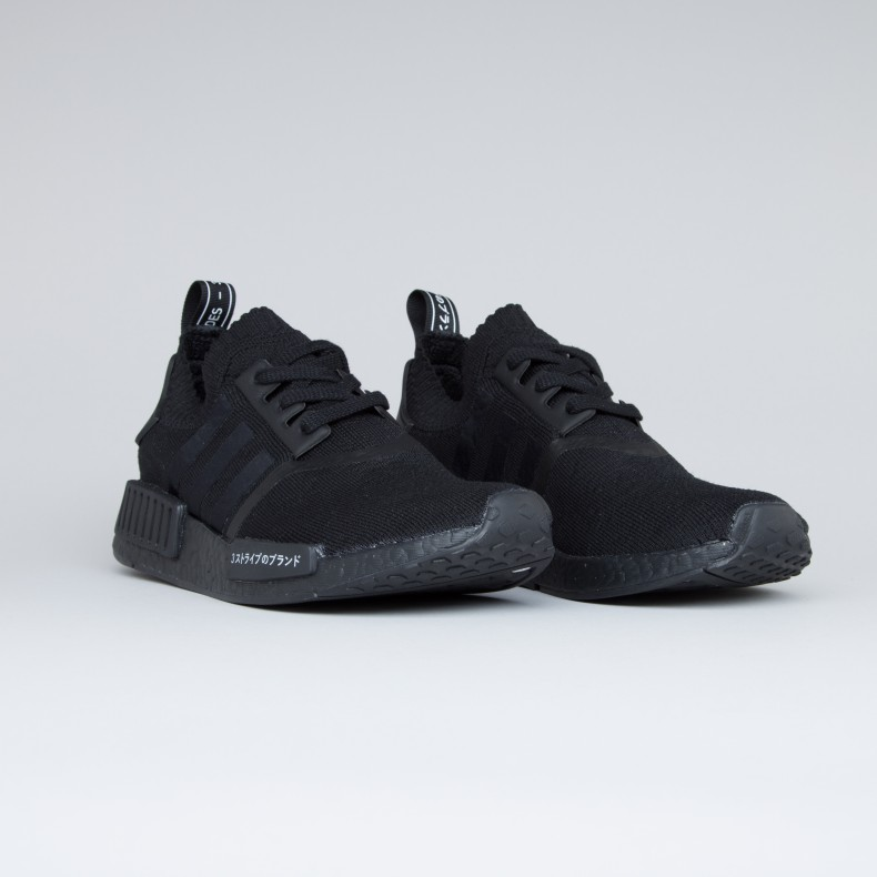 Adidas Originals Nmd R1 Primeknit Japan Triple Black Core Black