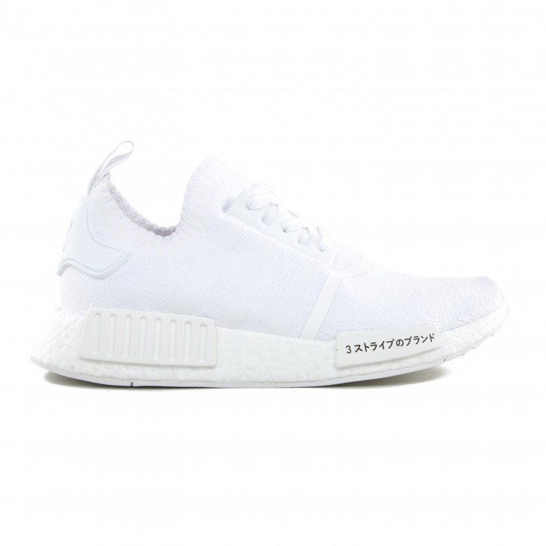 timeless design 259ec 98988 adidas Originals NMD_R1 Primeknit 'Japan Triple White ...