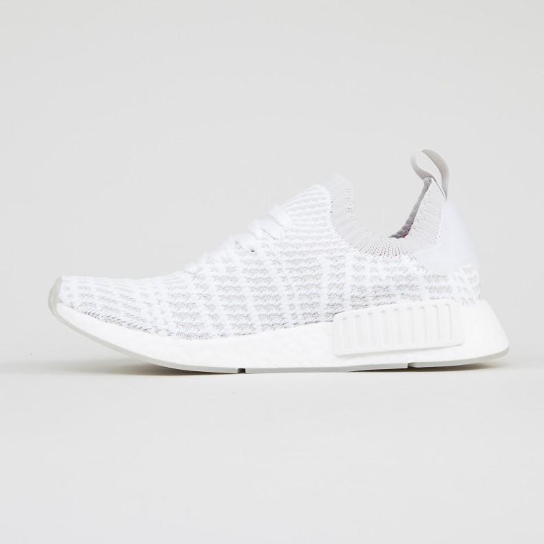 56dd14c3dca adidas Originals NMD R1 STLT Primeknit. (Footwear White Grey One Solar Pink)