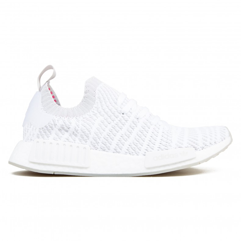 d6aaccd7f1e adidas Originals NMD R1 STLT Primeknit (Footwear White Grey One Solar Pink)  - Consortium