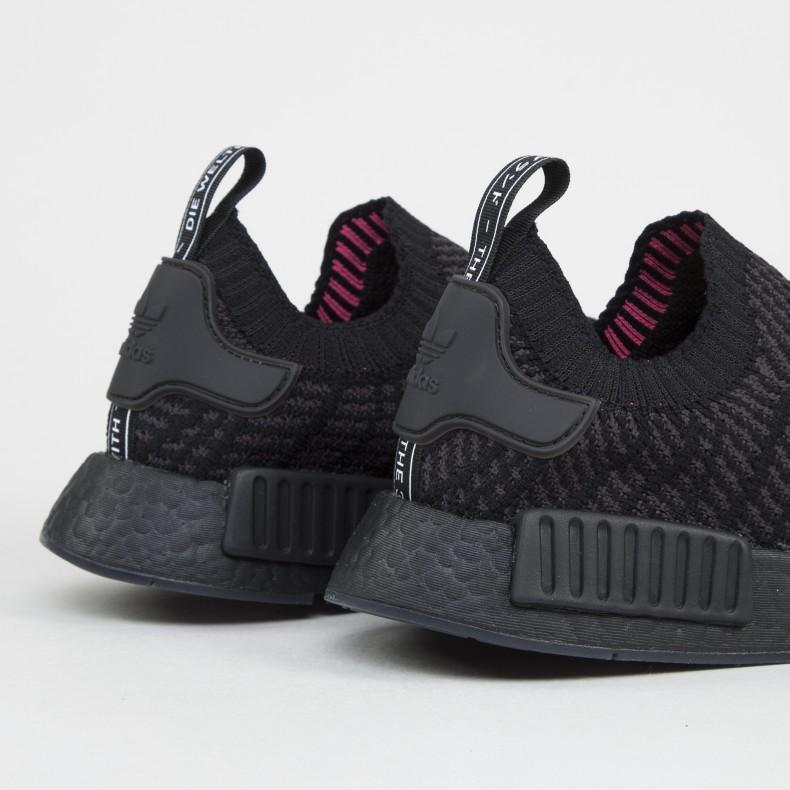 Adidas Originals Nmd R1 Stlt Primeknit Triple Black Core Black