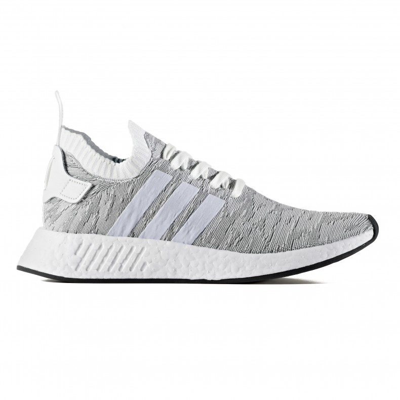 info for 549a4 245f5 adidas Originals NMD_R2 Primeknit (Footwear White/Footwear White/Core Black)