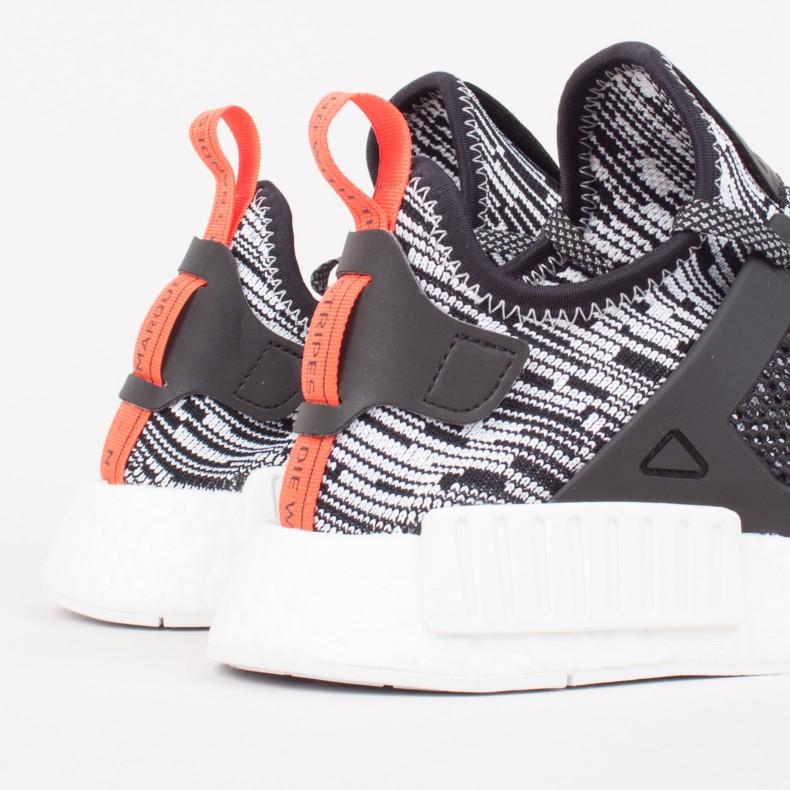 7e2c0eb73 adidas Originals NMD XR1 Primeknit  Glitch Pack . (Footwear White Core Black  Semi Solar Red)