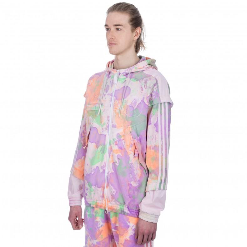 adidas Originals Pharrell Williams Hu Holi 'Powder Dye' Hooded Windbreaker Sweatshirt (MulticolourWhite)
