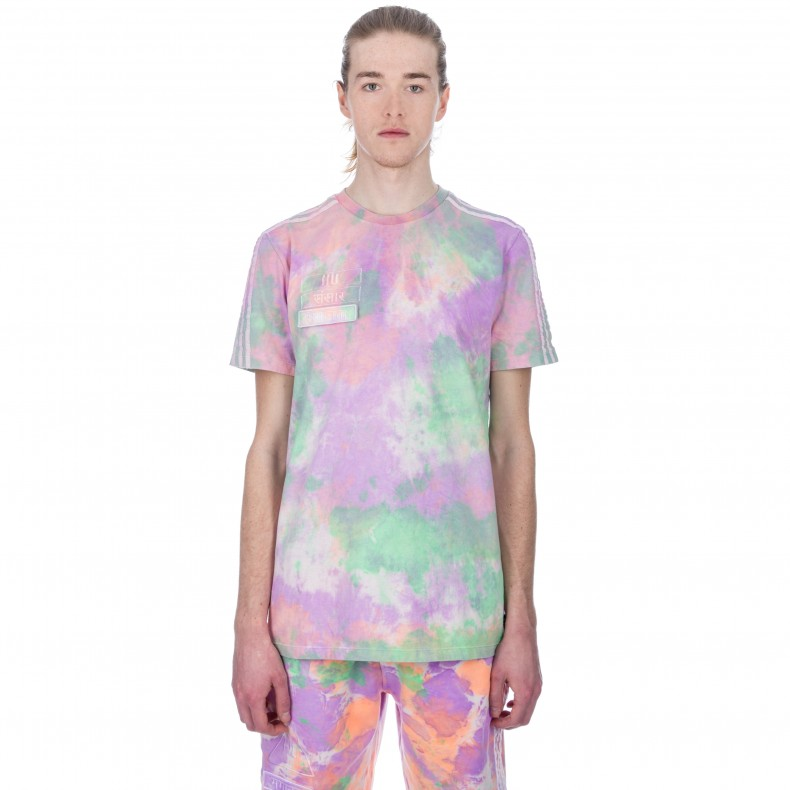 03fefbb24 adidas Originals Pharrell Williams Hu Holi  Powder Dye  T-Shirt  (Multicolour White) - Consortium