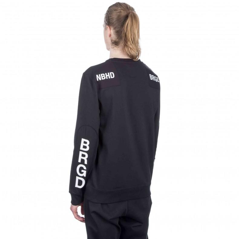 74629889 adidas Originals x NEIGHBORHOOD Commander Crew Neck Sweatshirt. (Black)