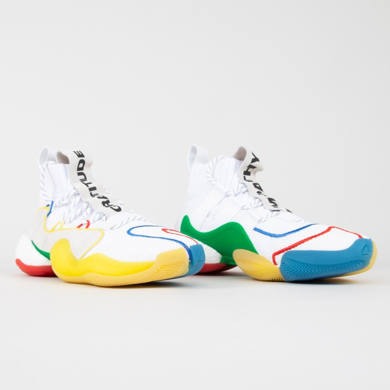 the best attitude dd0fd cab52 adidas Originals x Pharrell Williams Crazy BYW LVL X (Footwear  White/Supplier Colour/Supplier Colour)