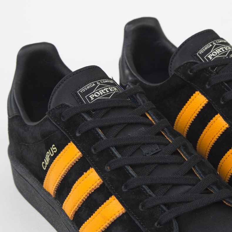 63d1d7dff3e5 adidas Originals x Porter Campus (Core Black Bright Orange Core ...