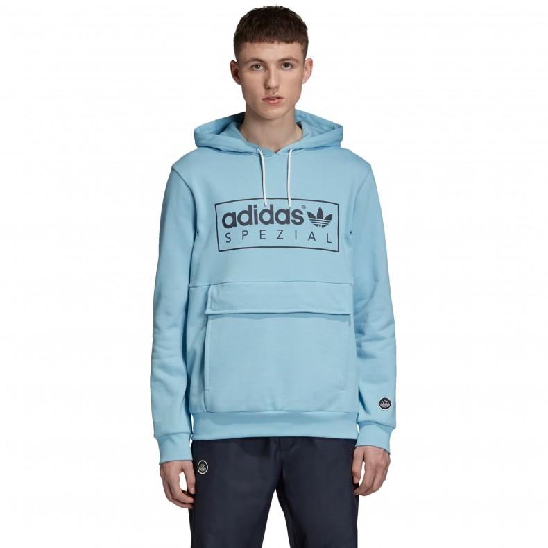 adidas Originals x SPEZIAL Banktop Pullover Hooded Sweatshirt (Clear Blue)