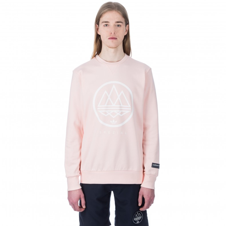 b8e7c789c94a adidas Originals x SPEZIAL Mod Trefoil Crew Neck Sweatshirt (Icey Pink) -  Consortium