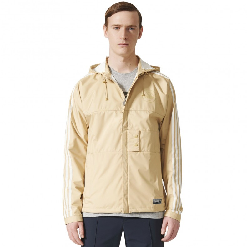 Adidas Originals X Spezial Pleasington Rain Jacket Sand Off White