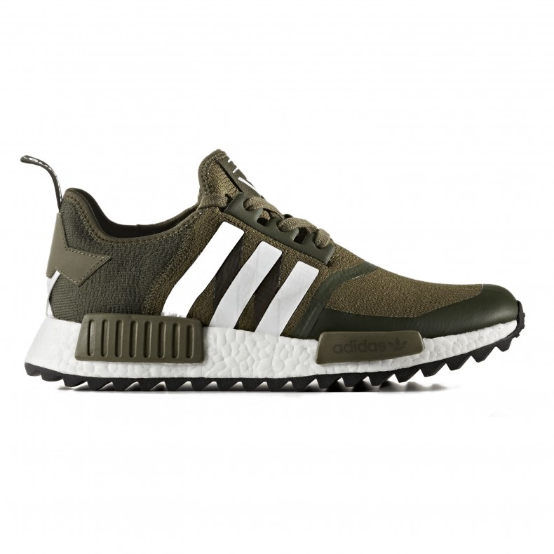 adidas Originals x White Mountaineering NMD Trail Primeknit (Trace Olive F17Footwear WhiteFootwear White)