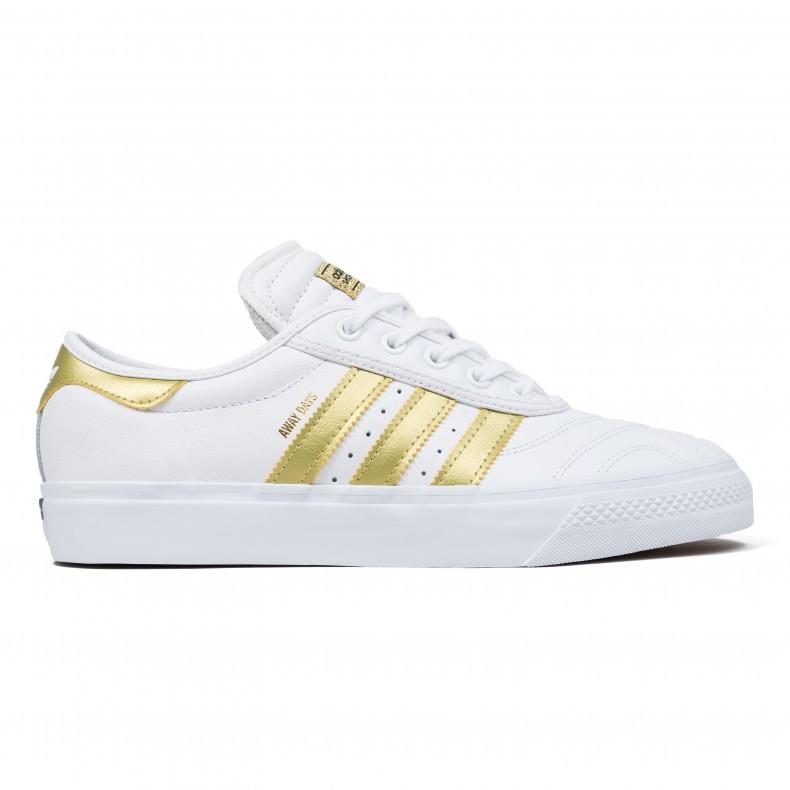 874b9f659d83 Adidas Skateboarding Adi-Ease Premiere  Away Days  (Footwear White Gold  Metallic Gum 4) - Consortium.