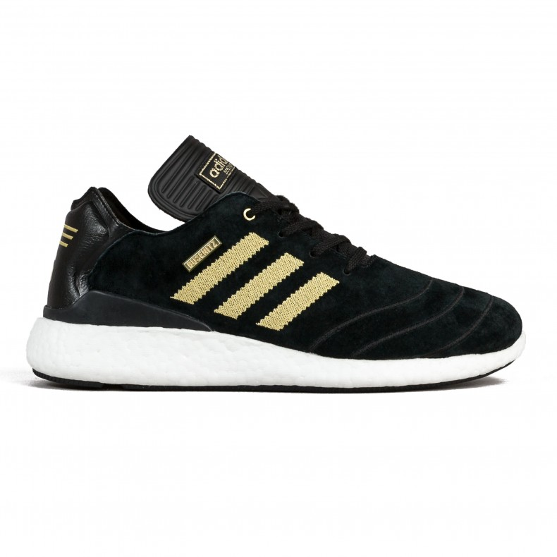 lowest price 70f29 050a3 adidas Skateboarding Busenitz Pure Boost 10 Year Anniversary (Core Black Gold MetallicFootwear White) - Consortium.