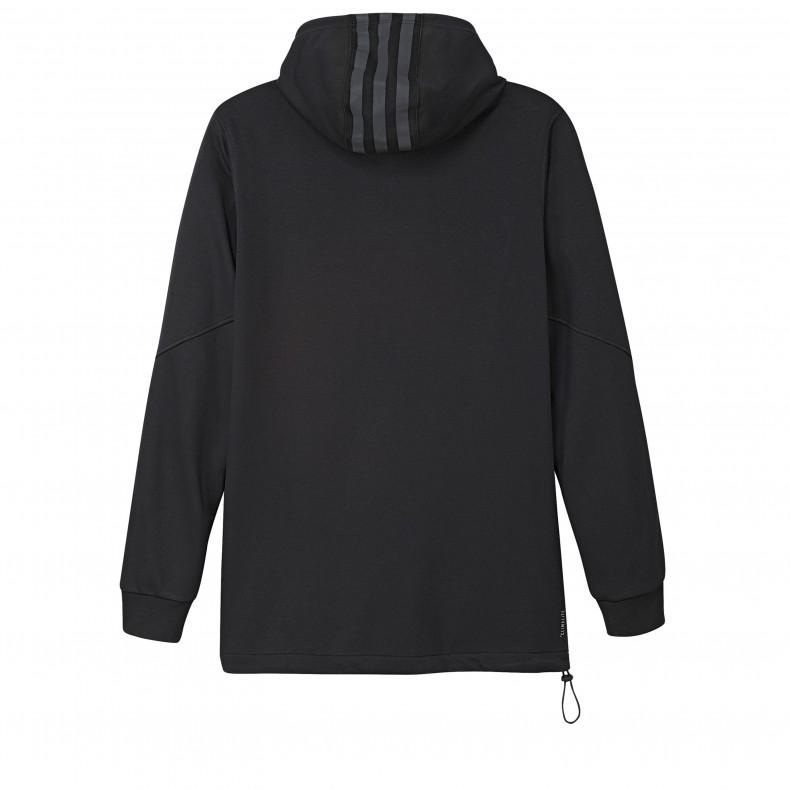 big sale f6740 bce99 adidas Skateboarding Cornered Pullover Hooded Sweatshirt (Black/White/Black  Reflective)