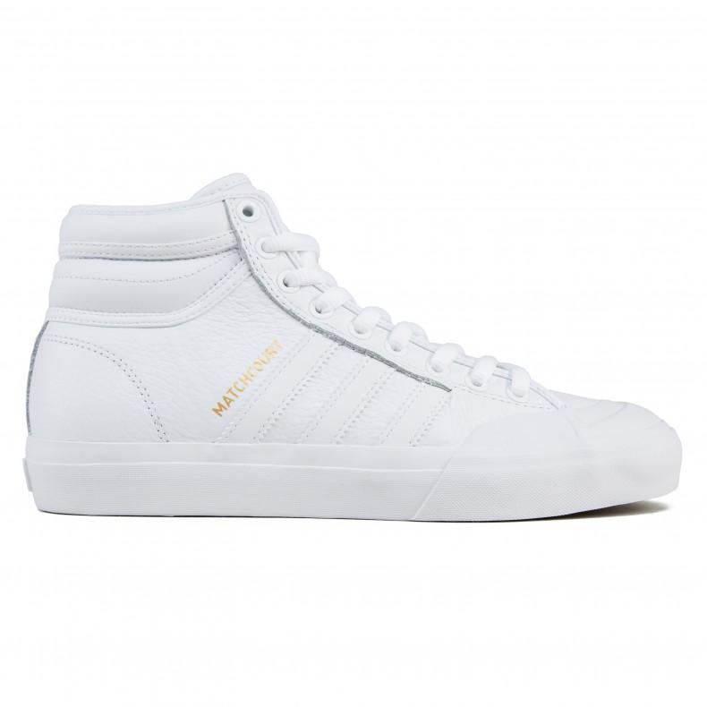 the latest f8b31 c6759 adidas Skateboarding Matchcourt High RX2 (Footwear WhiteFootwear WhiteGold  Metallic) - Consortium.