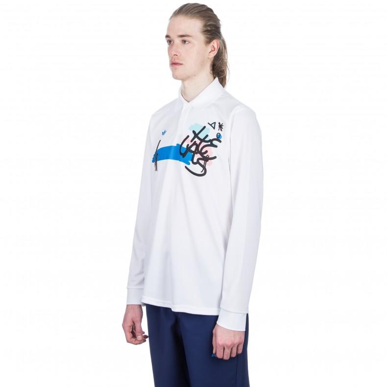 Polo X Long Skateboarding white Adidas Hélas Consortium Shirt Sleeve ax1pZ