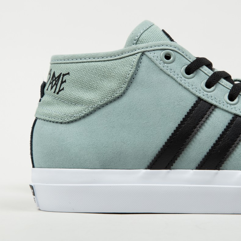 buy online 7bd34 4b63b adidas Skateboarding x Welcome Matchcourt Mid. (Mist Slate F15-ST Core Black  Footwear ...