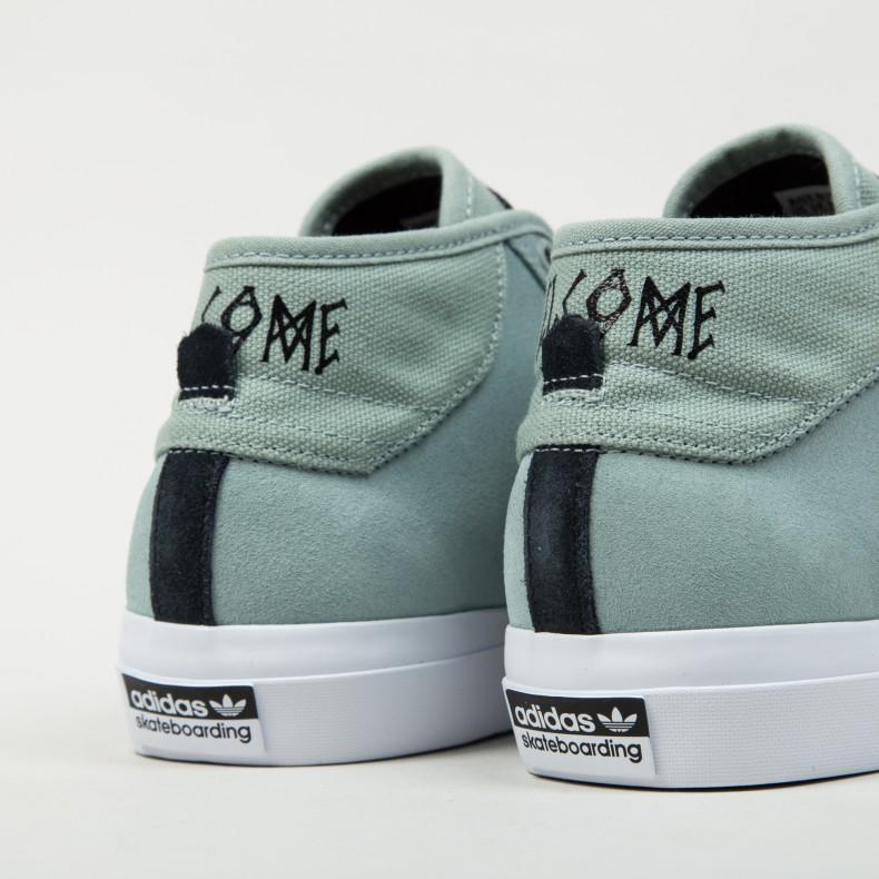 size 40 624e2 84642 adidas Skateboarding x Welcome Matchcourt Mid. (Mist Slate F15-ST Core Black  Footwear White)