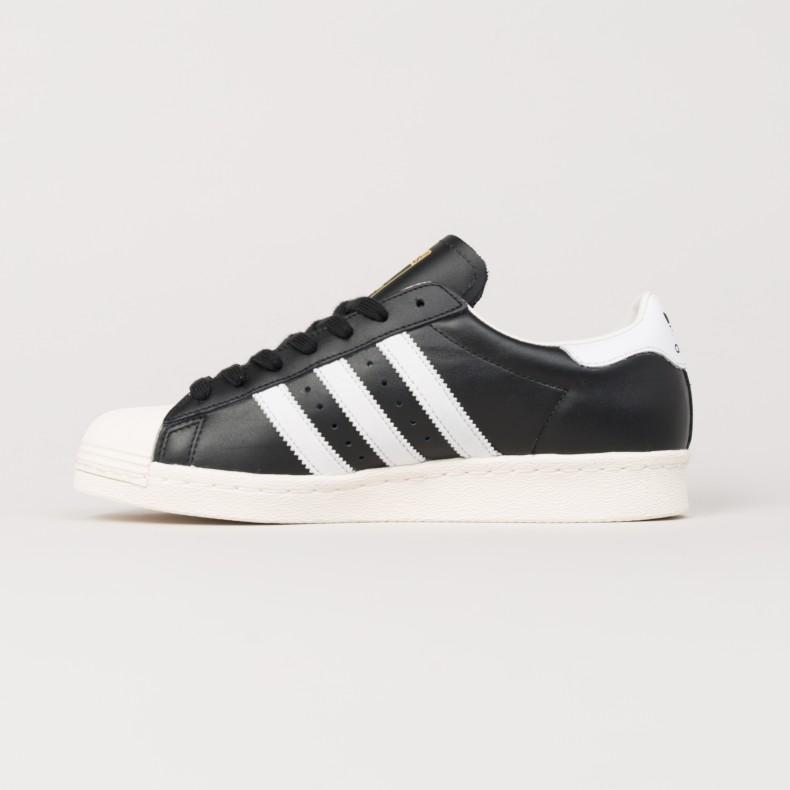 adidas superstar 80s black white