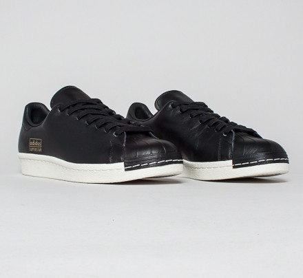 best service d7019 16d71 Adidas Superstar 80s Clean (Core Black/Core Black/Gold Met.)