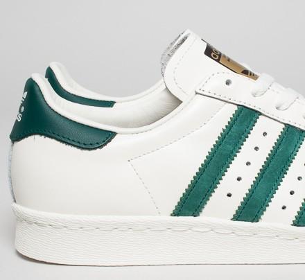 adidas superstar green stripes