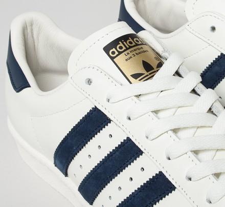 adidas superstar navy stripe