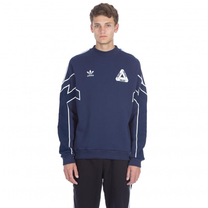 1102bd313 Adidas x Palace Crew Neck Sweatshirt (Night Indigo) - Consortium.