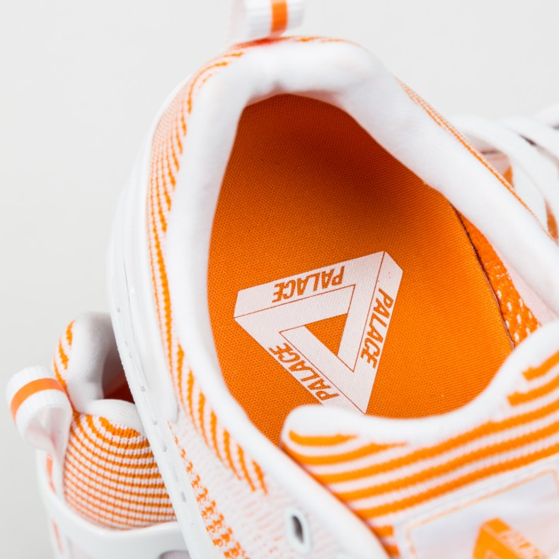 new concept c0aba 46d4e adidas x Palace Pro Primeknit. (White Bright Orange Footwear ...