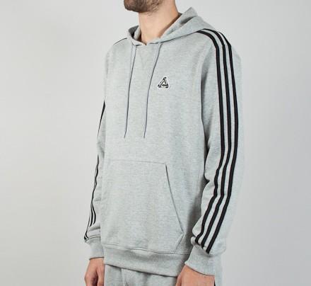 9c131dbd0 Adidas x Palace Pullover Hooded Sweatshirt (Heather Grey) - Consortium.