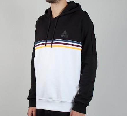 a653ae508 Adidas x Palace Stripe Pullover Hooded Sweatshirt (White/Black ...