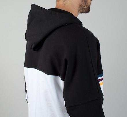 Palace Pullover Sweatshirtwhiteblack Stripe Hooded Adidas X TkZOiuwPX