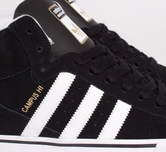 Adidas Campus Vulc Mid (Black Running White Metallic Gold) - Consortium. 1f023d962cfd