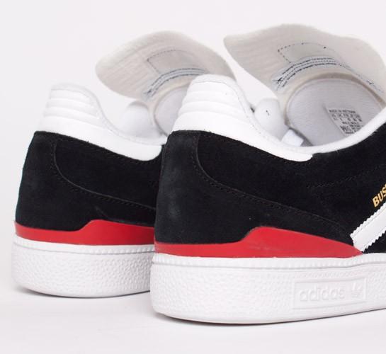 Adidas Skateboarding Busenitz 1/Running (Black 1/Running Busenitz White/University Red 4e0a79