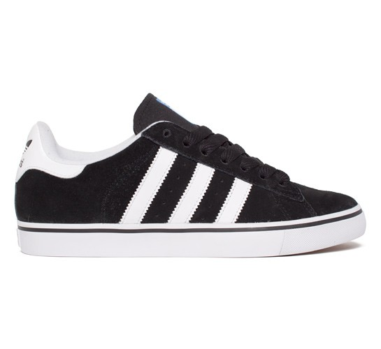 premium selection 2c7b2 df154 Adidas Skateboarding Campus Vulc (Black 1 Running White FTW Bluebird) -  Consortium.