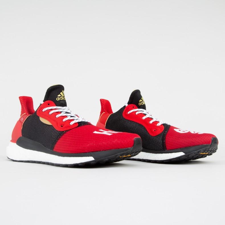wholesale dealer 3e8f0 0cea7 adidas Originals x Pharrell Williams Solar Hu Glide CNY  Chinese New Year   (Red Black White) - EE8701 - Consortium.