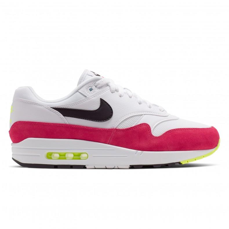 le dernier ea502 0b2c3 Nike Air Max 1 'Rush Pink' (White/Black-Volt-Rush Pink)