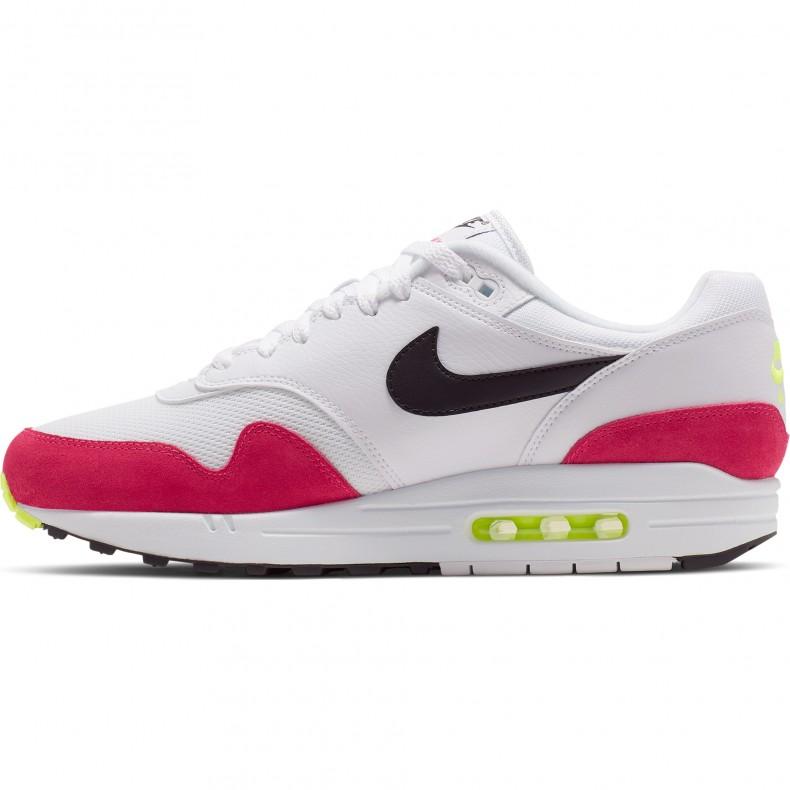 le dernier bfb62 aab6a Nike Air Max 1 'Rush Pink' (White/Black-Volt-Rush Pink)