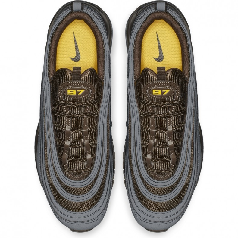 5aec80ab7da4 Nike Air Max 97 Premium  Cool Grey  (Cool Grey Baroque Brown-University  Gold) - AV7025-001 - Consortium.