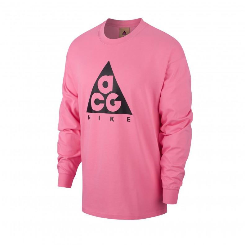 047e1d01 Nike ACG NRG Logo Long Sleeve T-Shirt (Lotus Pink/Black) - BQ3457 ...