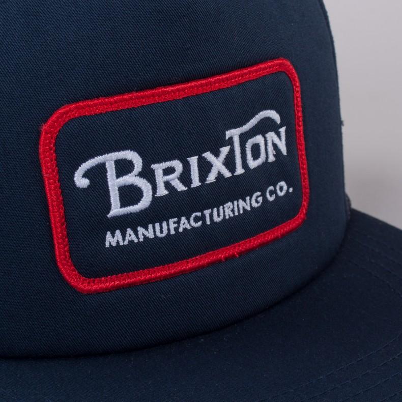 046814d707 Brixton Grade Mesh Trucker Cap (Navy/Red) - Consortium.