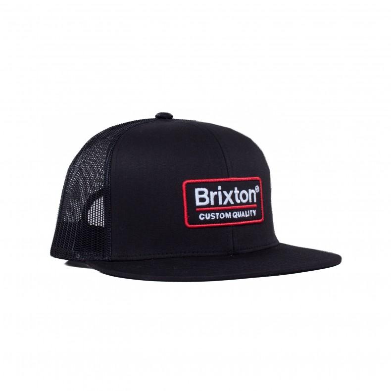 8c8a32a21b2 Brixton Palmer Mesh Trucker Cap (Black) - Consortium.