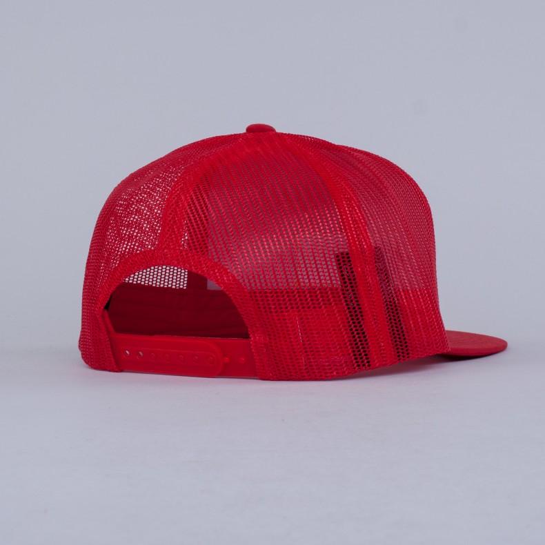 ee5a638733298 Brixton Palmer Mesh Trucker Cap (Red) - Consortium.