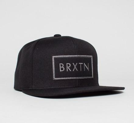 fb18f73f85 Brixton Rift Snapback Cap (Black/Black) - Consortium.