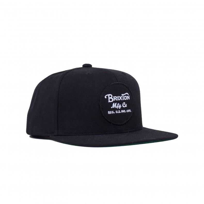 c0ca6d93dbc Brixton Wheeler Snapback Cap (Black) - Consortium.